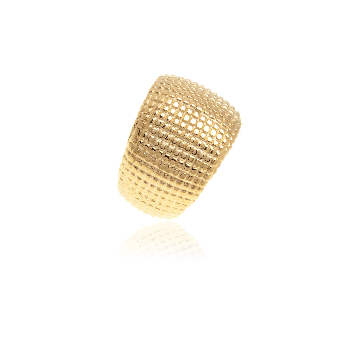 Gold Texturing Ring - Georgina Jewelry