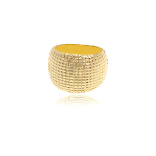 Reverie Gold Texturizing Ring - Georgina Jewelry