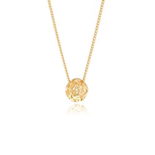 Signature Mini Gold  Sphere Necklace - MCK Brands