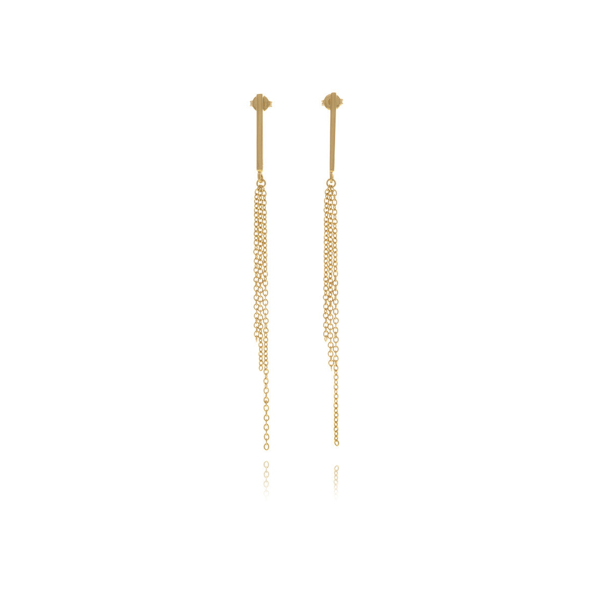 Reverie Chain Bar Earrings - Georgina Jewelry