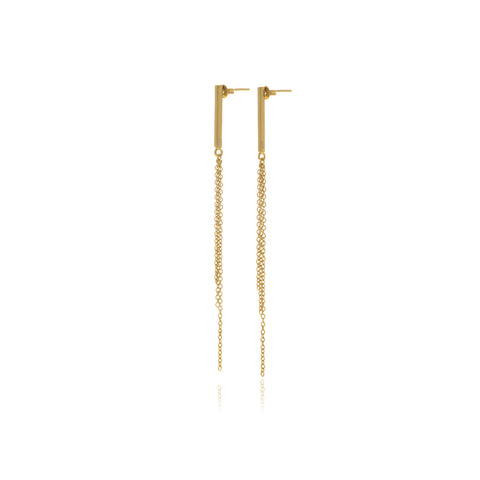 Gold Foil Long Earrings