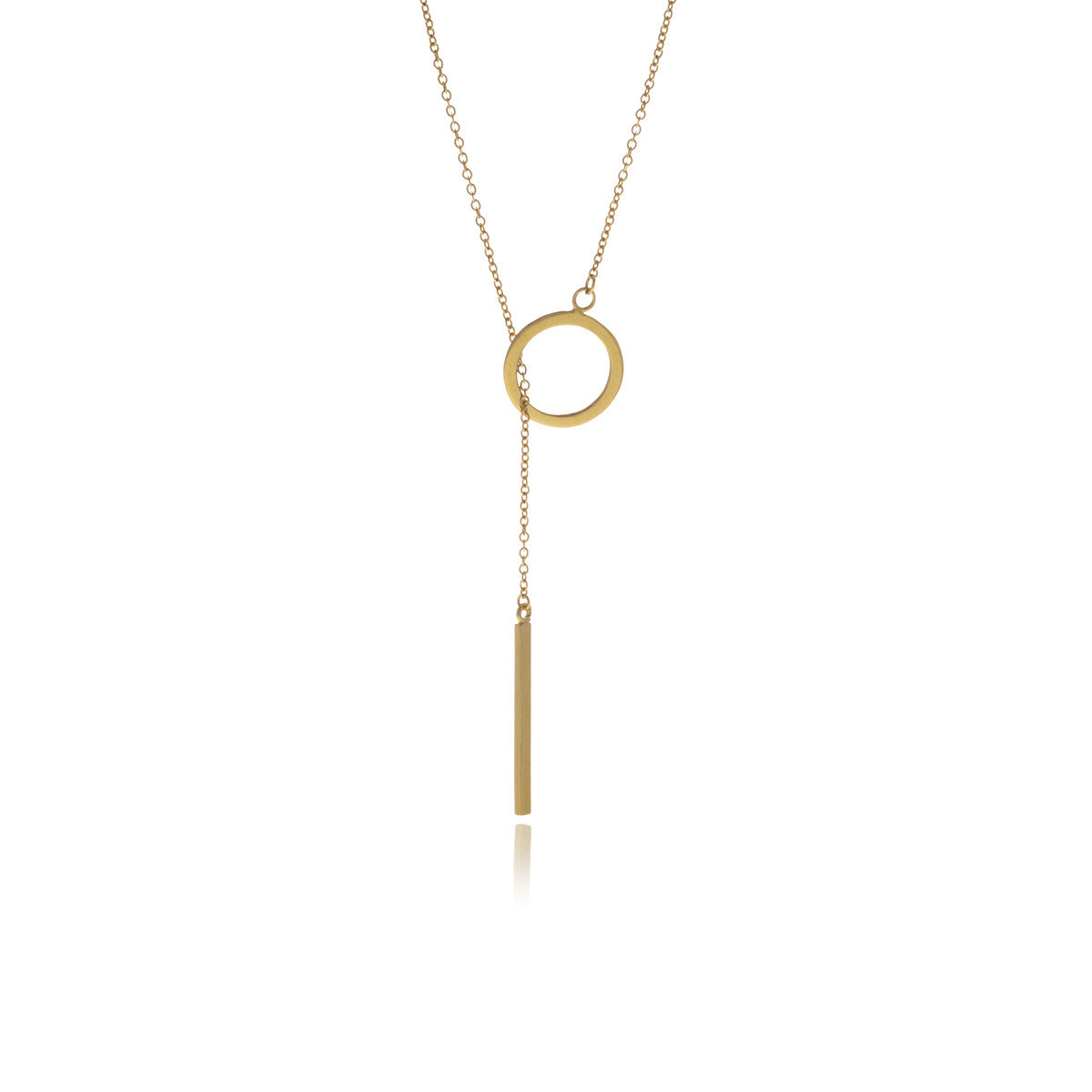 Reverie Gold Bar Chain Long Necklace - MCK Brands