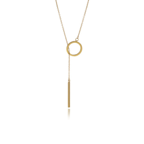 Runway Gold Oyster Necklace