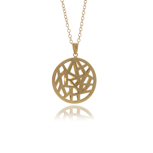 Les Racines Gold Roots  Medallion Small - Georgina Jewelry