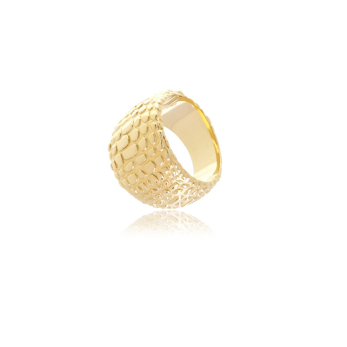 Reverie Gold Animal Print Ring - Georgina Jewelry