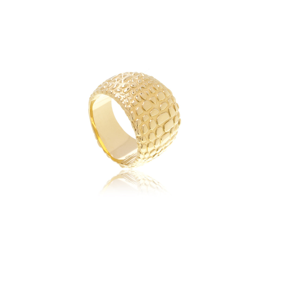 Reverie Gold Animal Print Ring