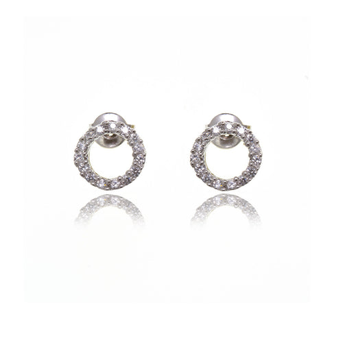 Infinity Diamond Earrings - Georgina Jewelry