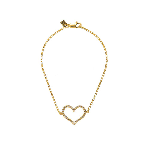 Infinity Diamond Gold Heart Bracelet