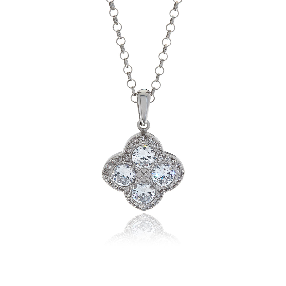 Chandler Diamond Flower Pendant - Georgina Jewelry