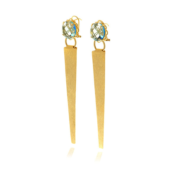 Runway Crystal Triangle Earrings - Georgina Jewelry