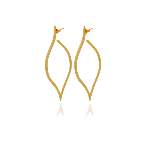 Gold Petal  Earrings - Georgina Jewelry