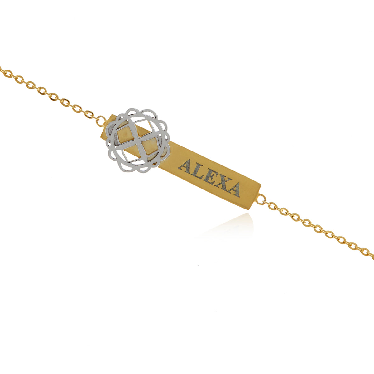 Signature  Gold Plated-Sterling Silver  Flower Necklace
