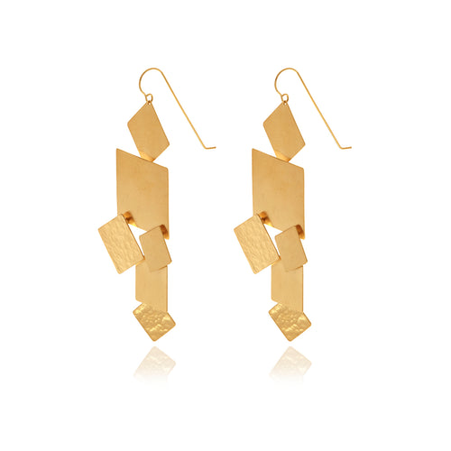 Revere Gold Runway Geometric Earrings - Georgina Jewelry