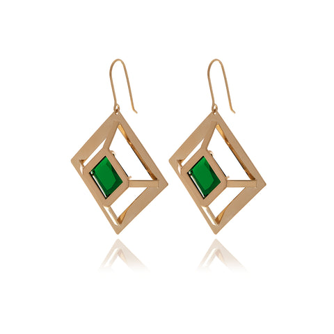 Runway Chain Two-Tone Earrings