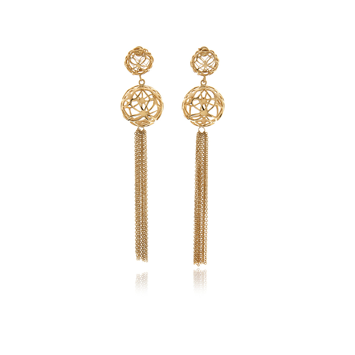 Signature Sphere Gold Earrings