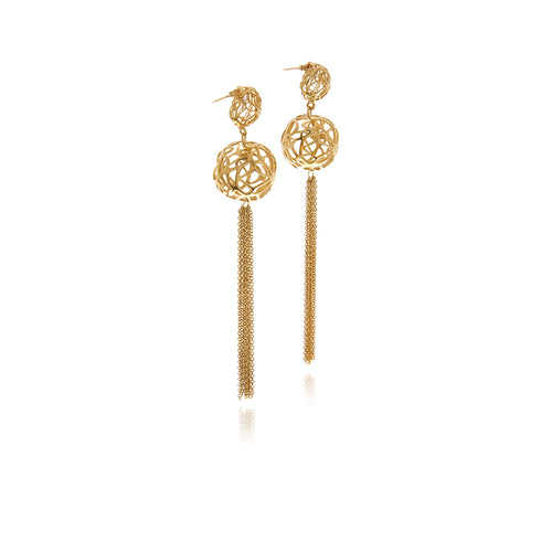 Signature Sphere Gold Earrings - Georgina Jewelry