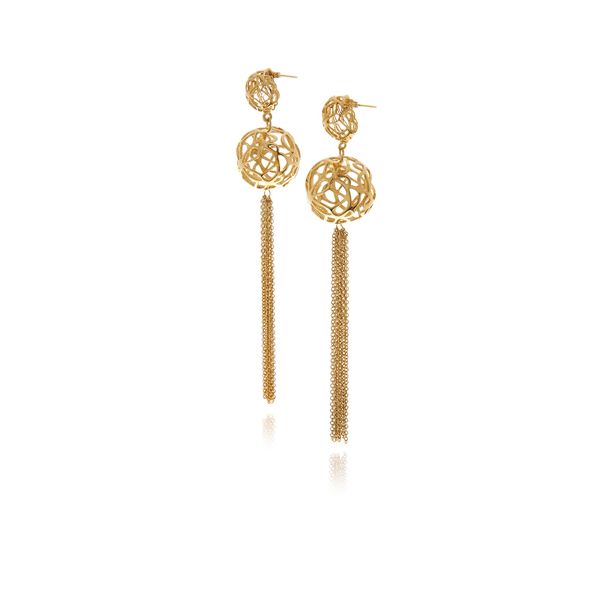 Signature Sphere Gold Earrings - MCK Brands