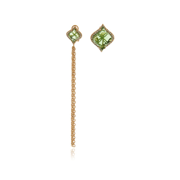 Signature Gold Crystal Earrings - Georgina Jewelry