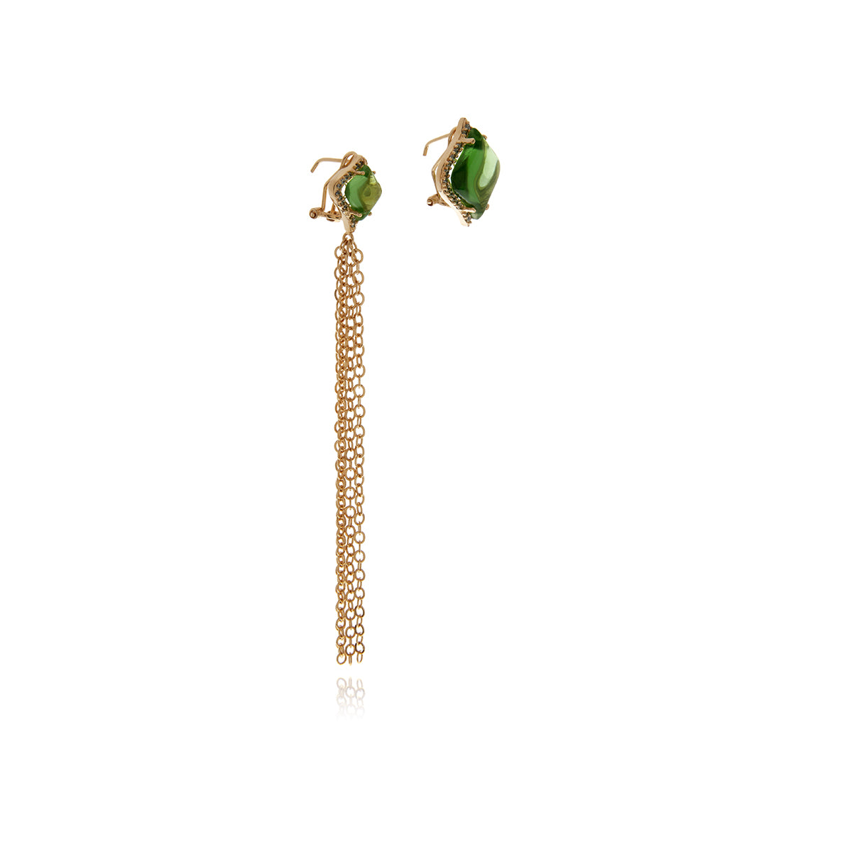 Signature Gold Crystal Earrings - MCK Brands