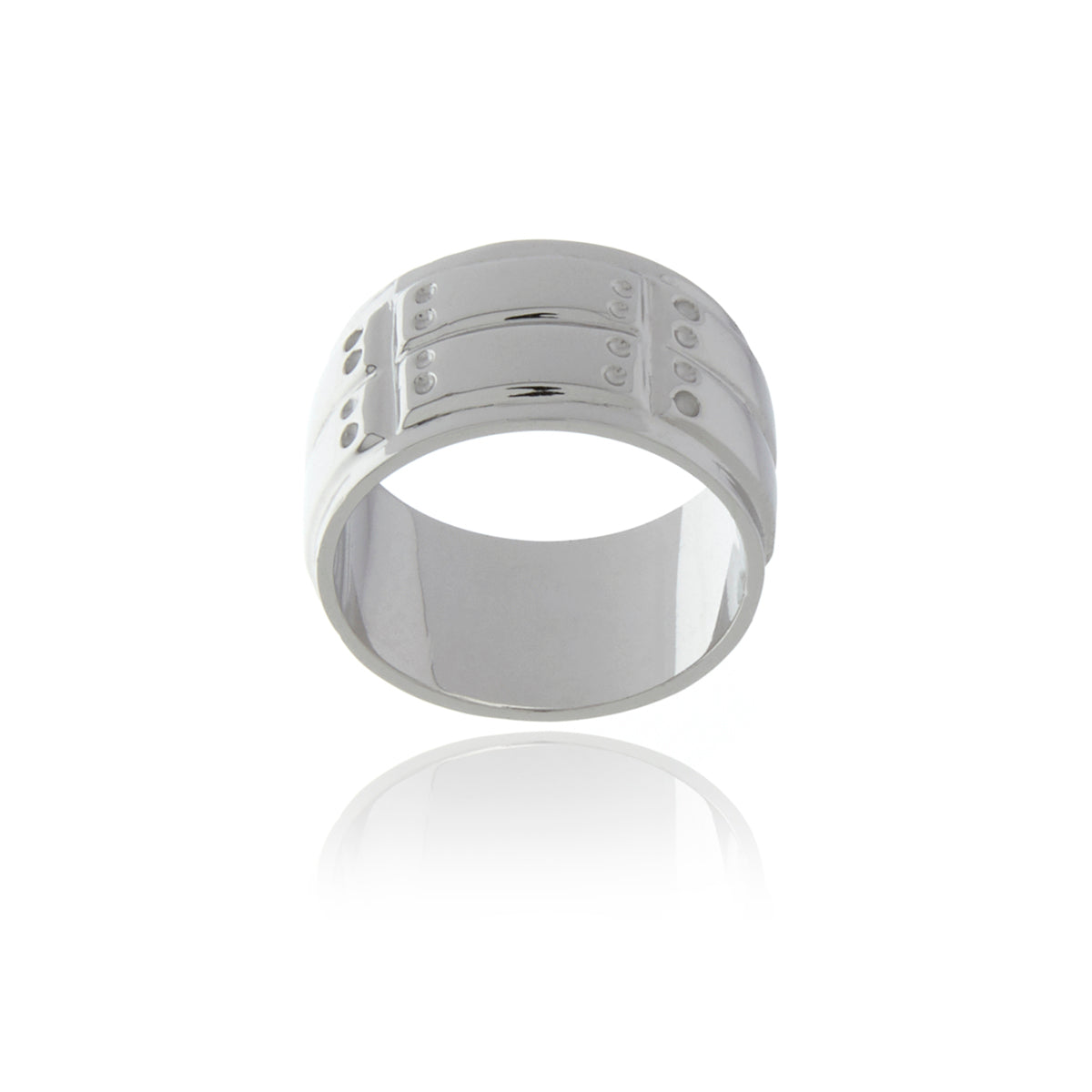 Signature Black Rhodium Ring for MEN - MCK Brands