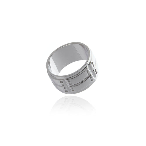 Signature Black Rhodium Ring for MEN - Georgina Jewelry