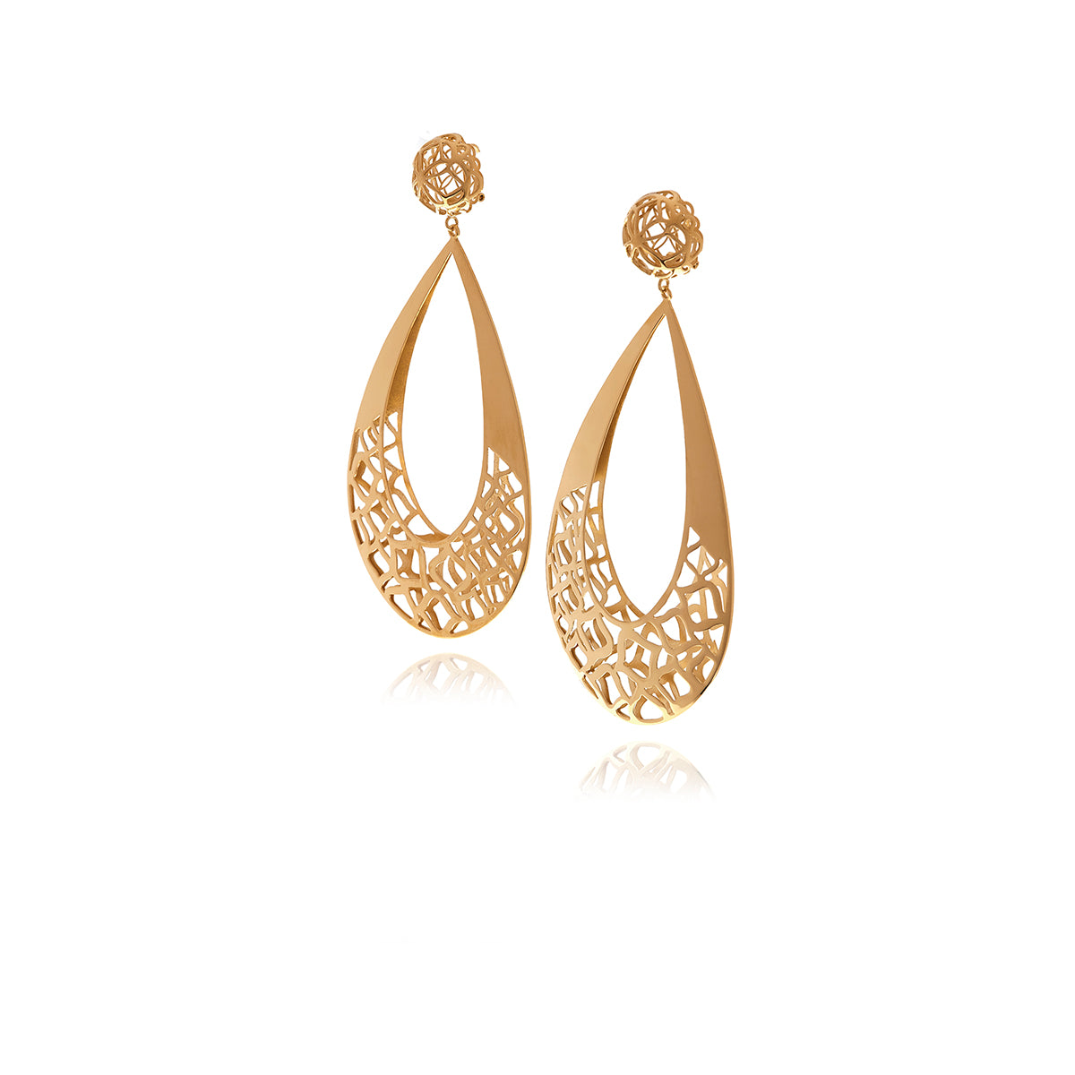 Runway Gold Drop Earrings - Georgina Jewelry