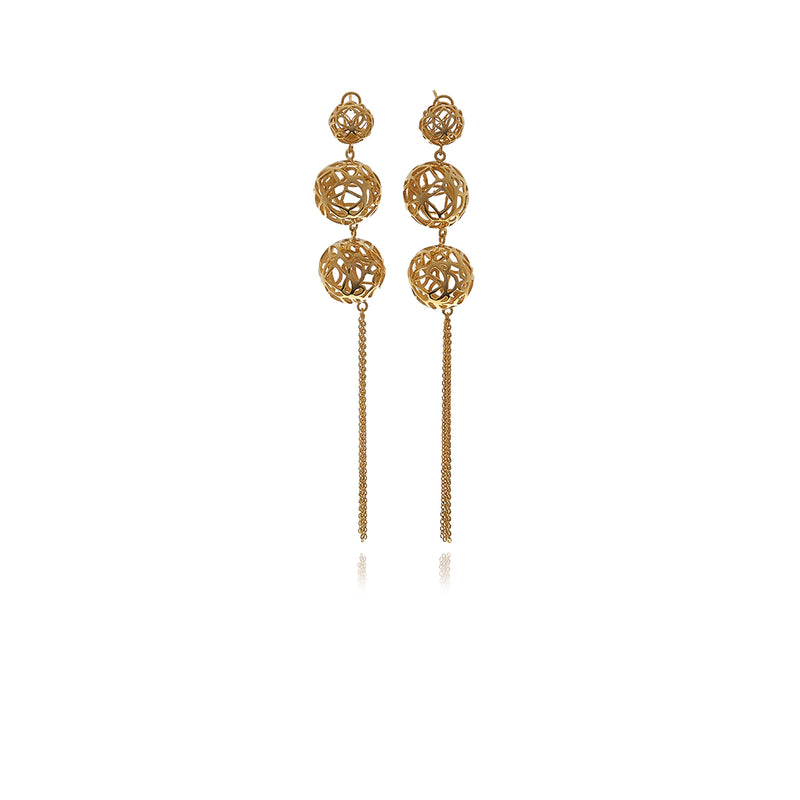 Double Sphere Signature Earrings - Georgina Jewelry