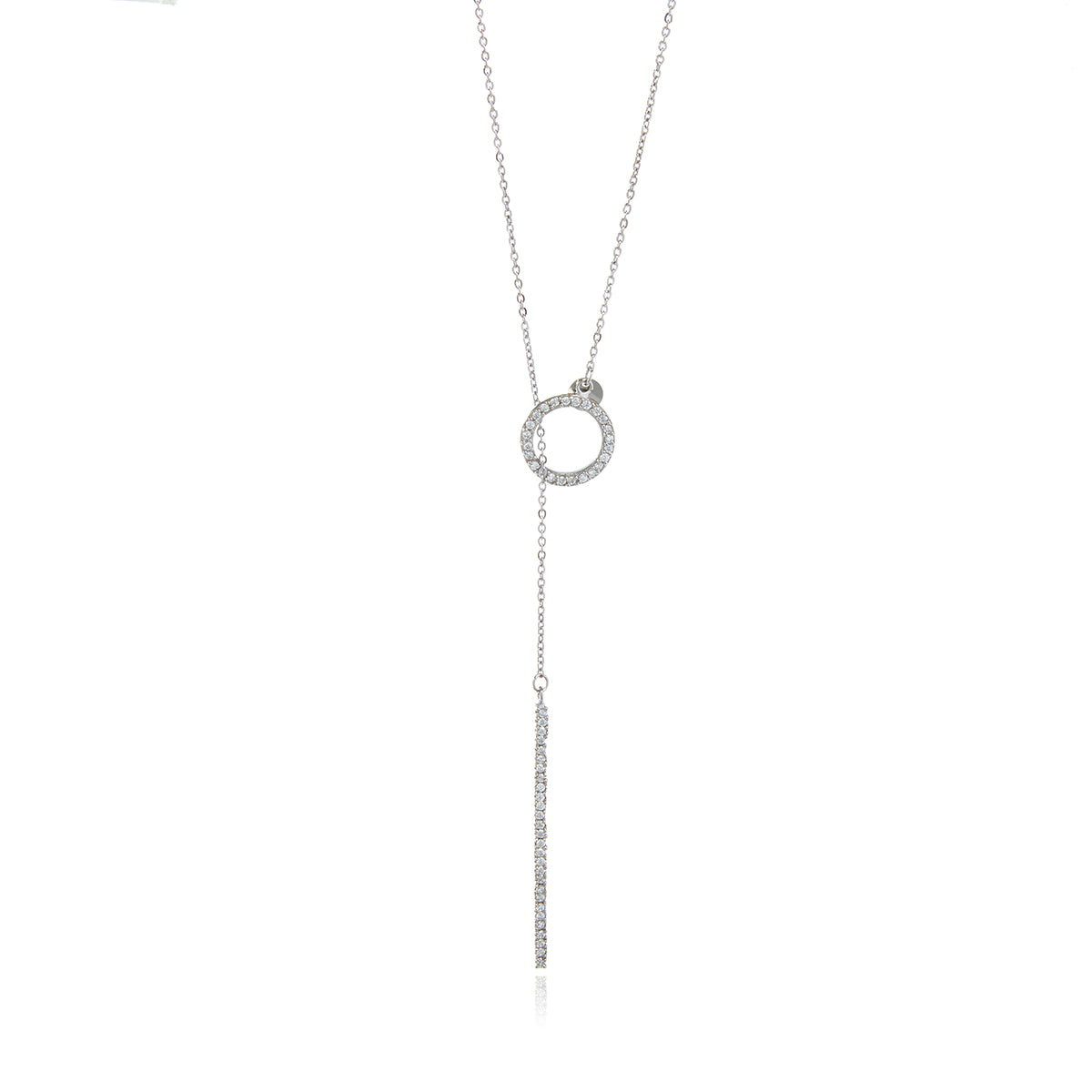 Diamond Bar Chain Long Necklace - Georgina Jewelry