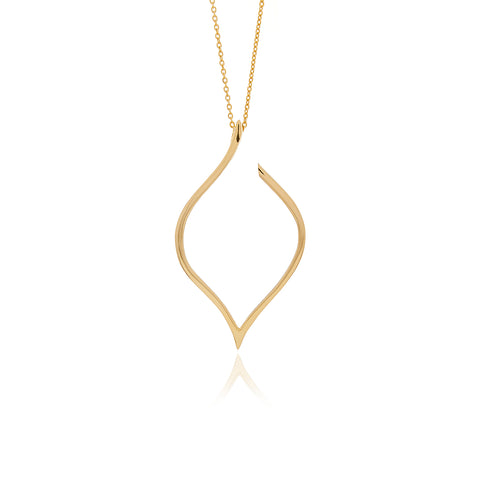 Signature Gold  Drop Crystal Necklace