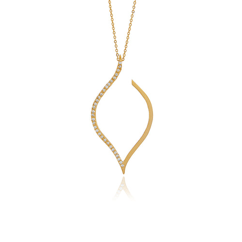 Petal Diamond Pendant - Georgina Jewelry