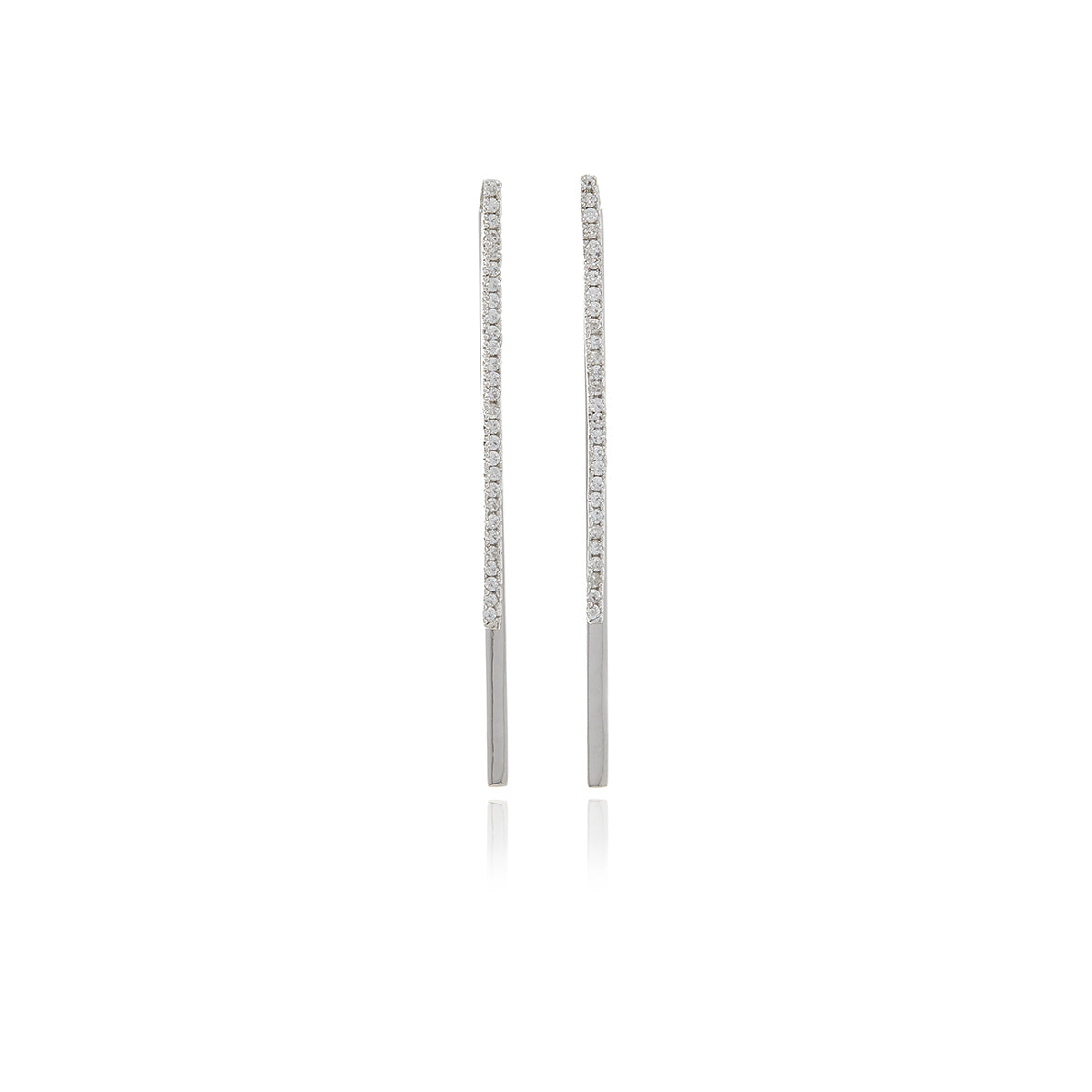 Double Bar Diamond Earrings - Georgina Jewelry