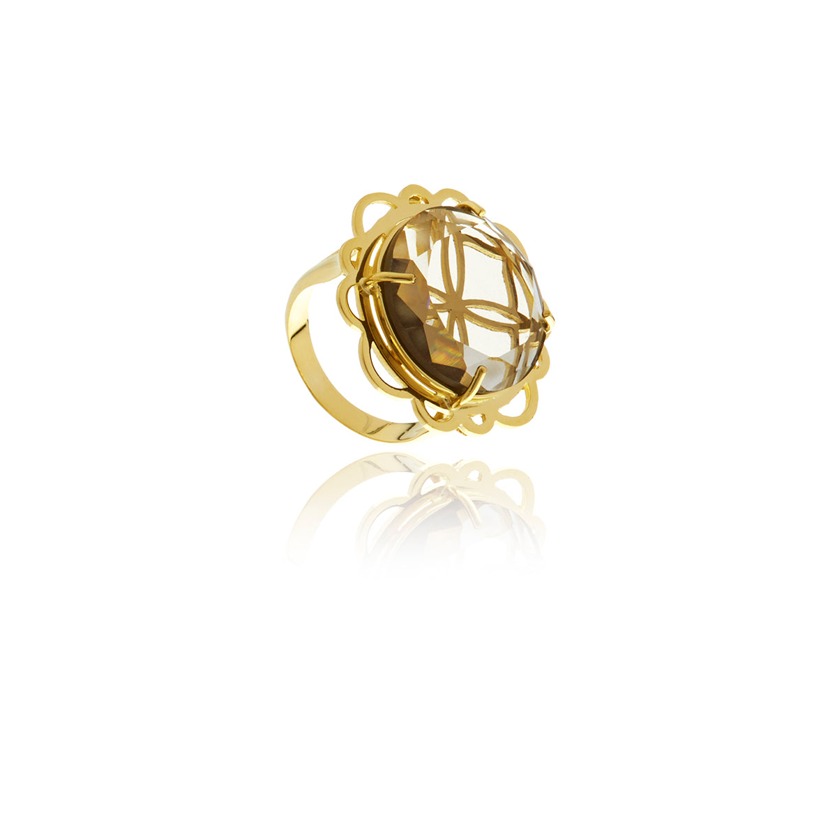 Signature Flower Crystal Ring - Georgina Jewelry