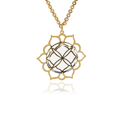 Chandler Diamond Flower Pendant