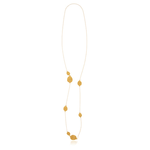 Gold Foil Long Necklace - Georgina Jewelry