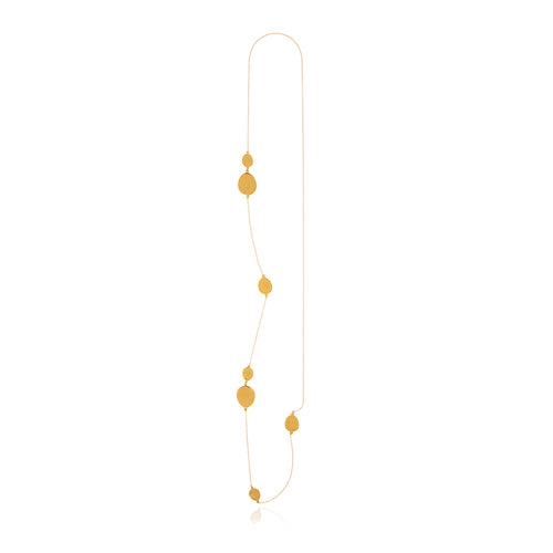 Gold Foil Long Necklace - MCK Brands