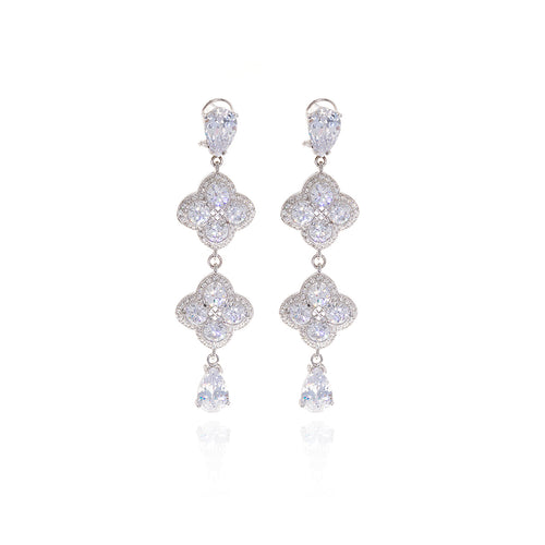 Chandler Diamond Drop Earrings - Georgina Jewelry