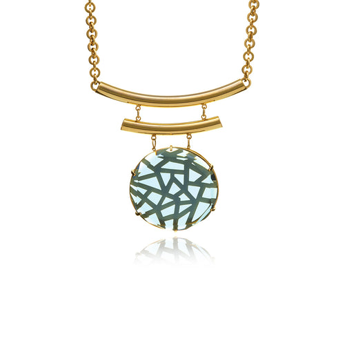 Releve Gold Medalion Necklace - Georgina Jewelry