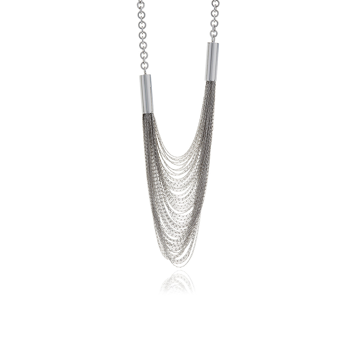 Releve Silver Long Chain Necklace - Georgina Jewelry