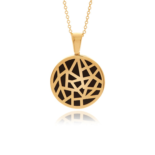 Les Racines  Gold White Bombe Ceramic Necklace - MCK Brands
