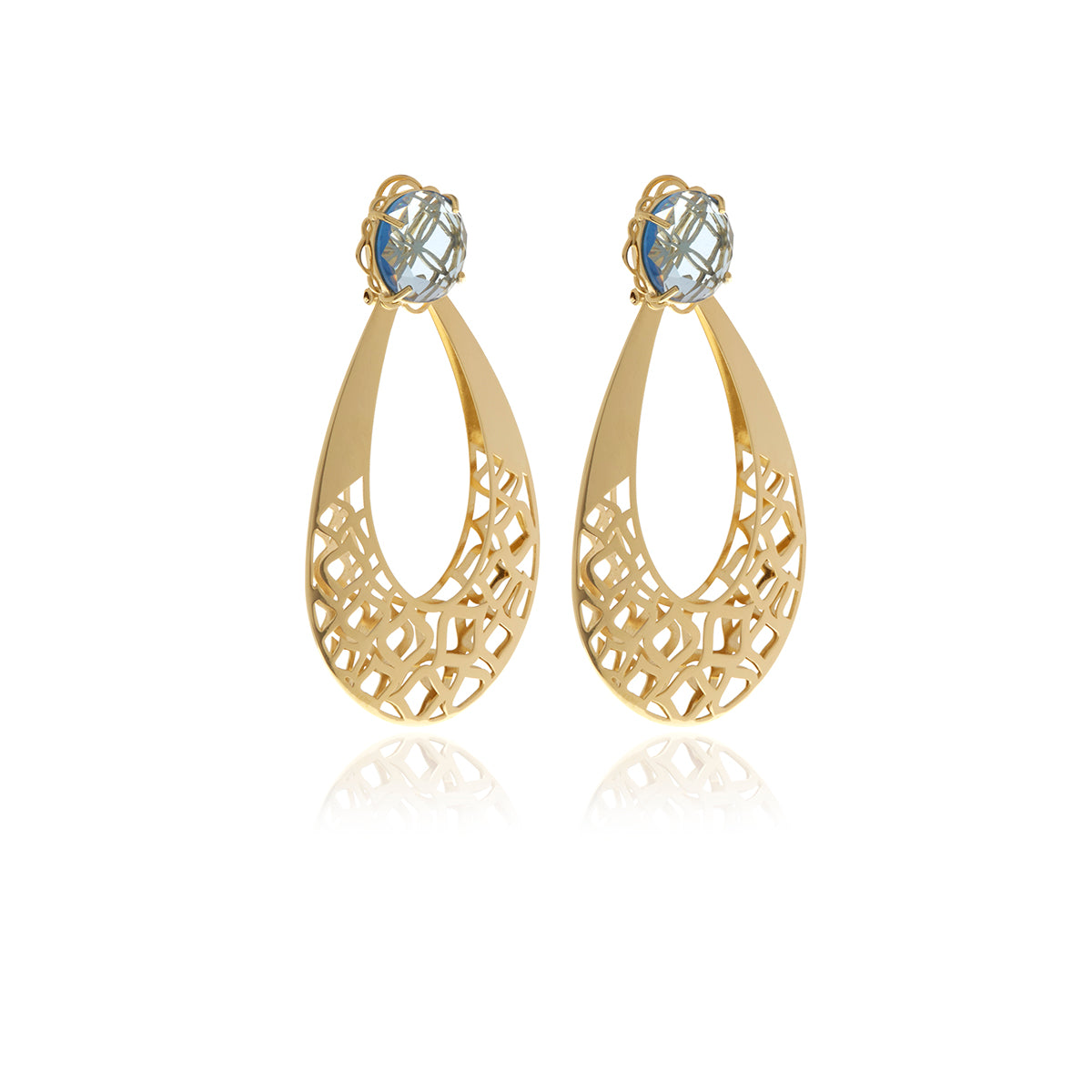 Racines Drop Crystal Earrings - Georgina Jewelry