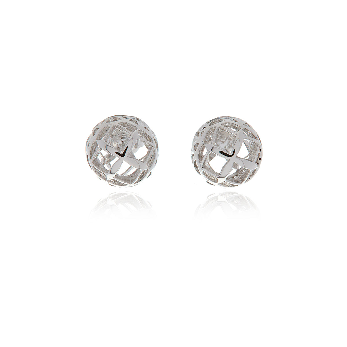 Signature Mini Sphere Earrings - Georgina Jewelry