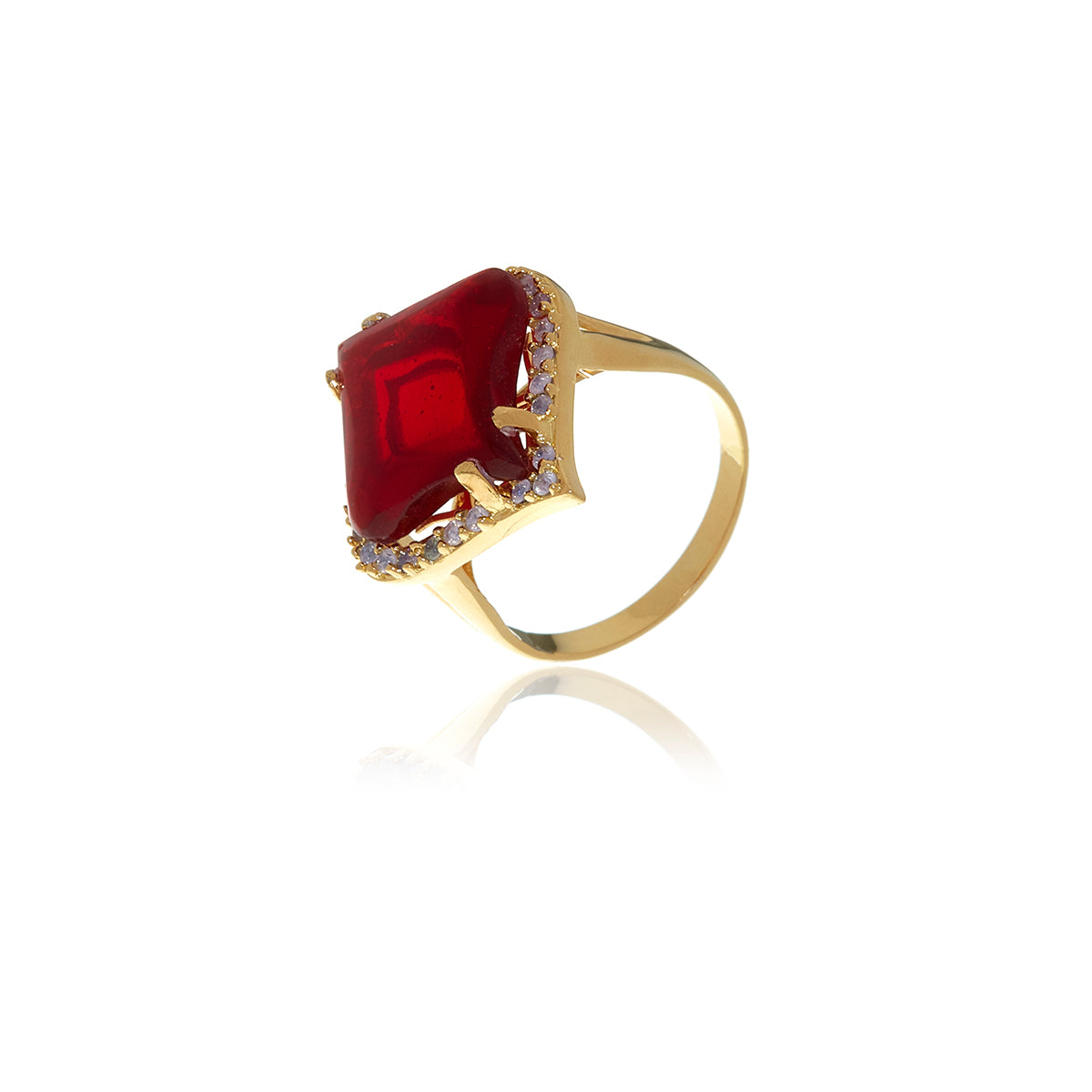 Gold Petal Garnet Ring - MCK Brands