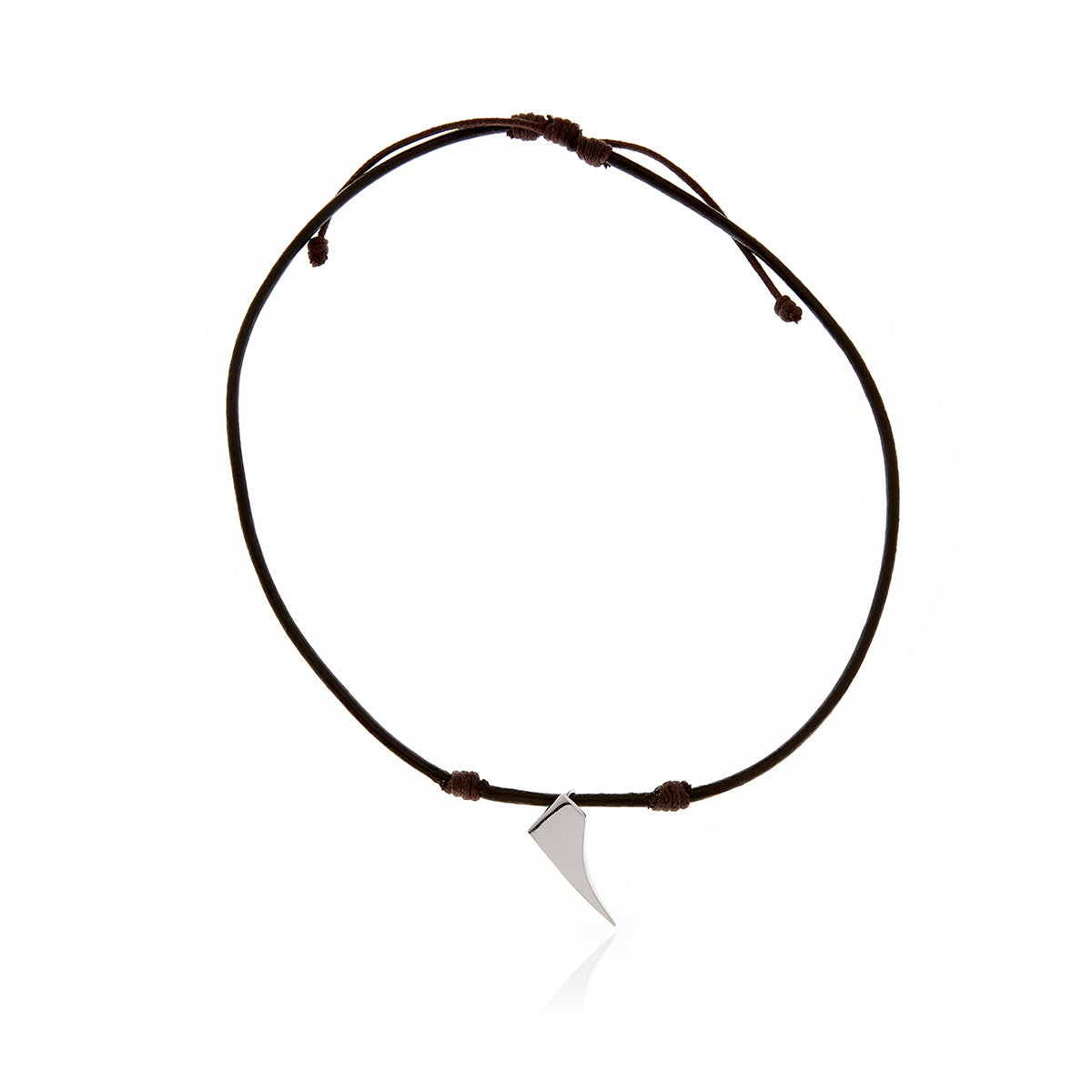 Signature Brown  Leather  Necklace  for Men