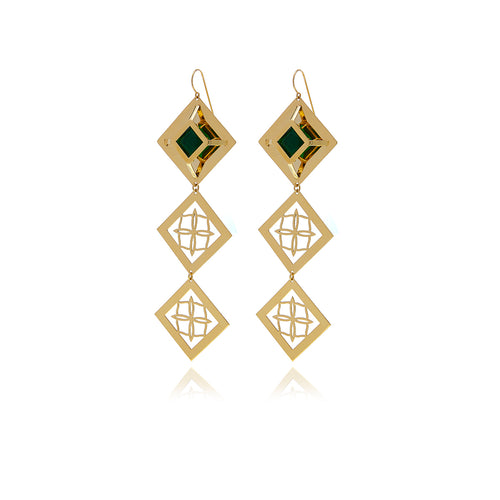 Releve Runway Penacho Earrings - Georgina Jewelry