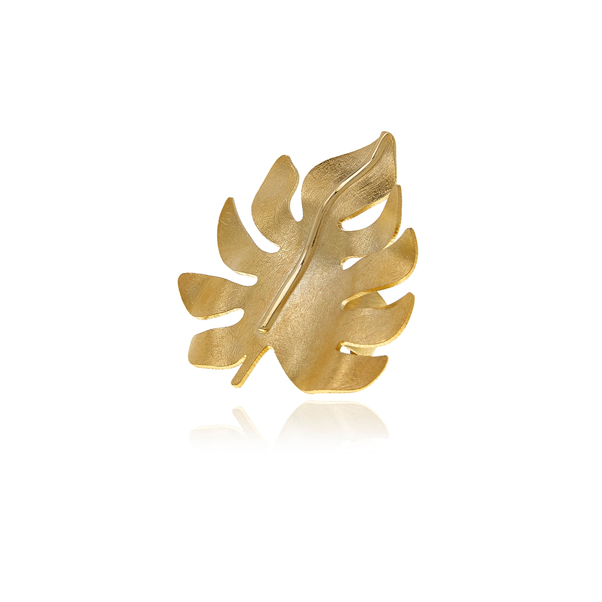 Gold Bold Leaf Ring - Georgina Jewelry