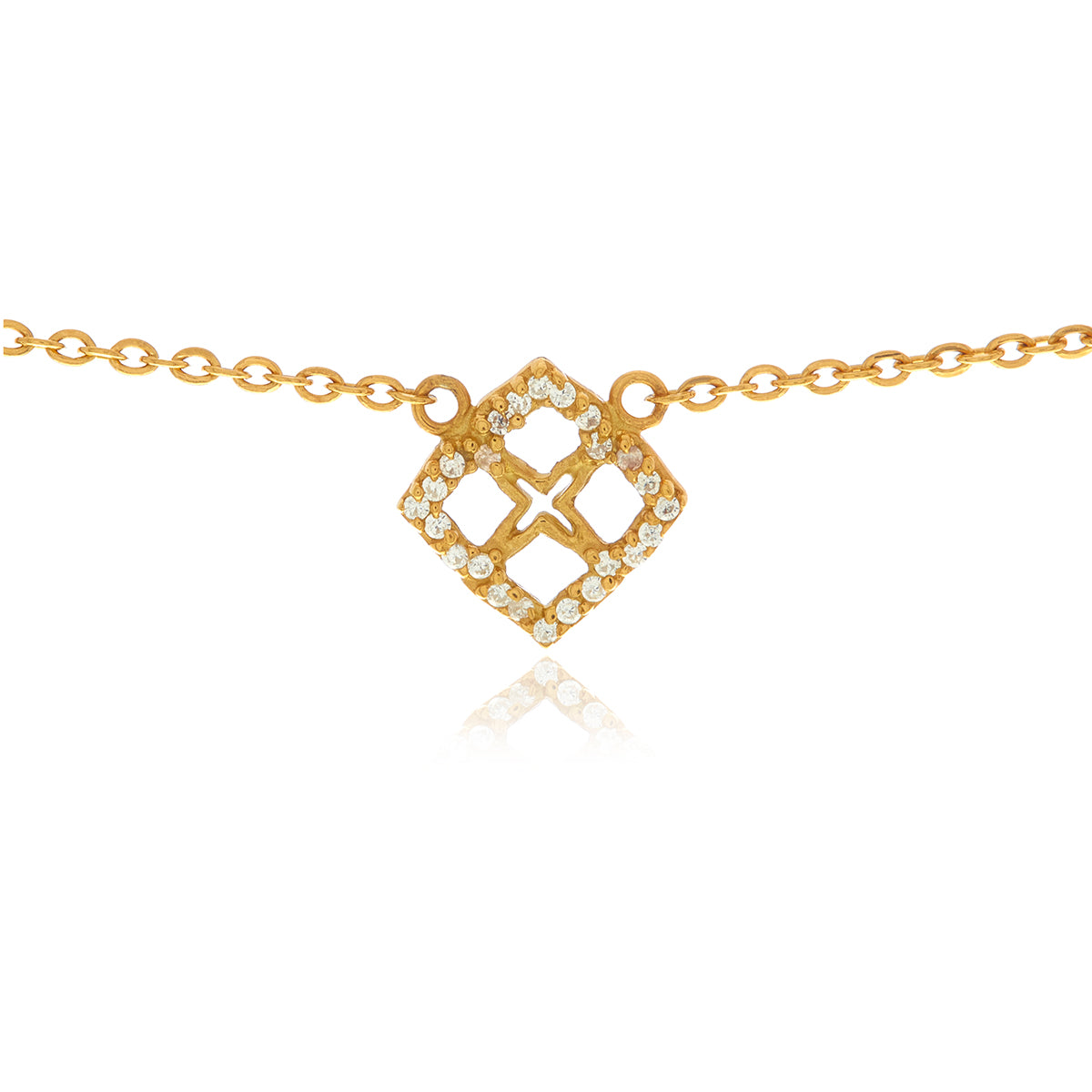 Signature Mini Flower Diamond Necklace - Georgina Jewelry