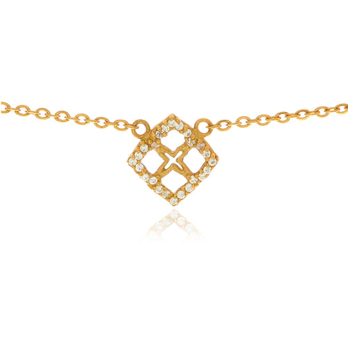 Signature Mini Flower Diamond Necklace