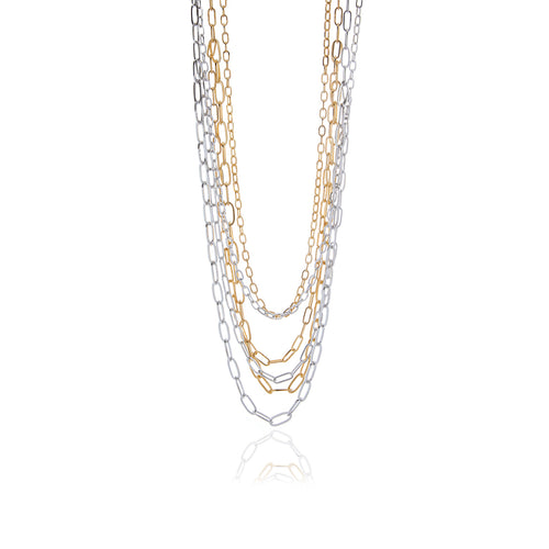 Runway Sterling Silver and Gold Necklace - MCK Brands