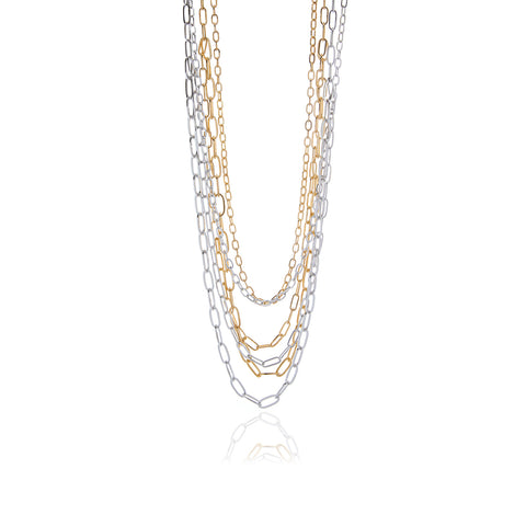 Releve Silver Long Chain Necklace