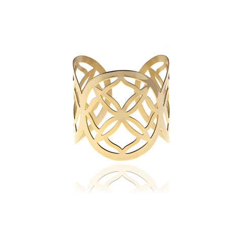 Runway Gold and Silver Ring